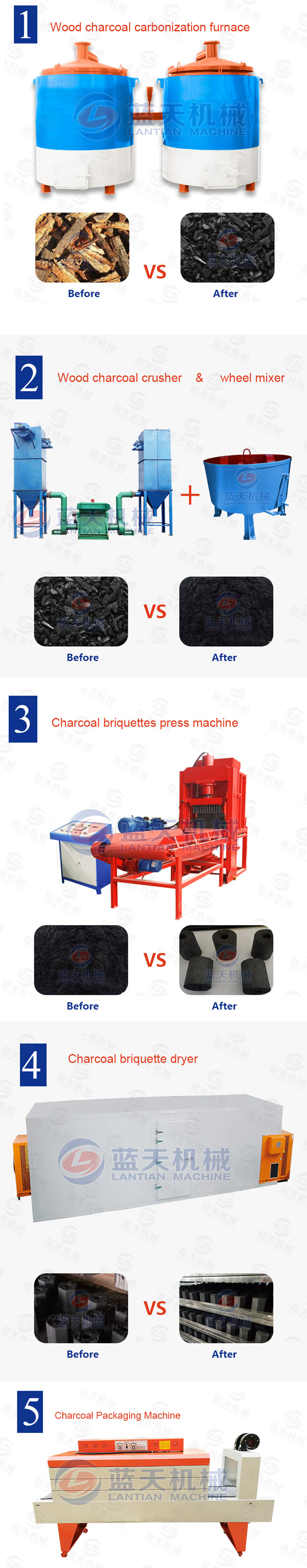 charcoal ball briquette press machine
