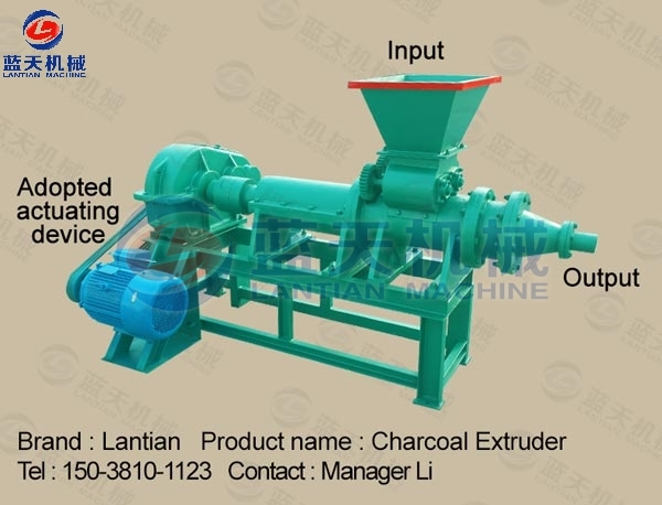 Charcoal Briquette Extruding Machine